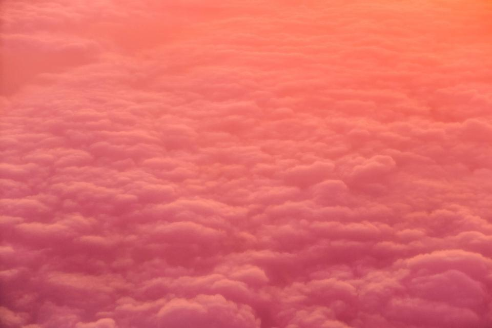 sunset dusk sky clouds travel trip aerial view