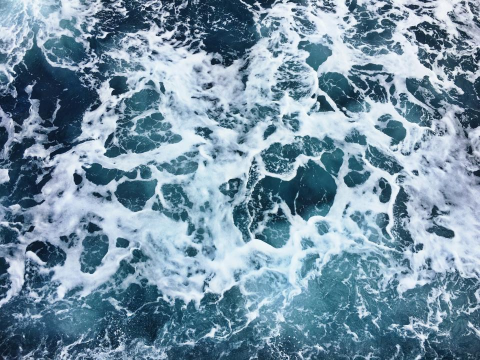 sea ocean blue water waves nature