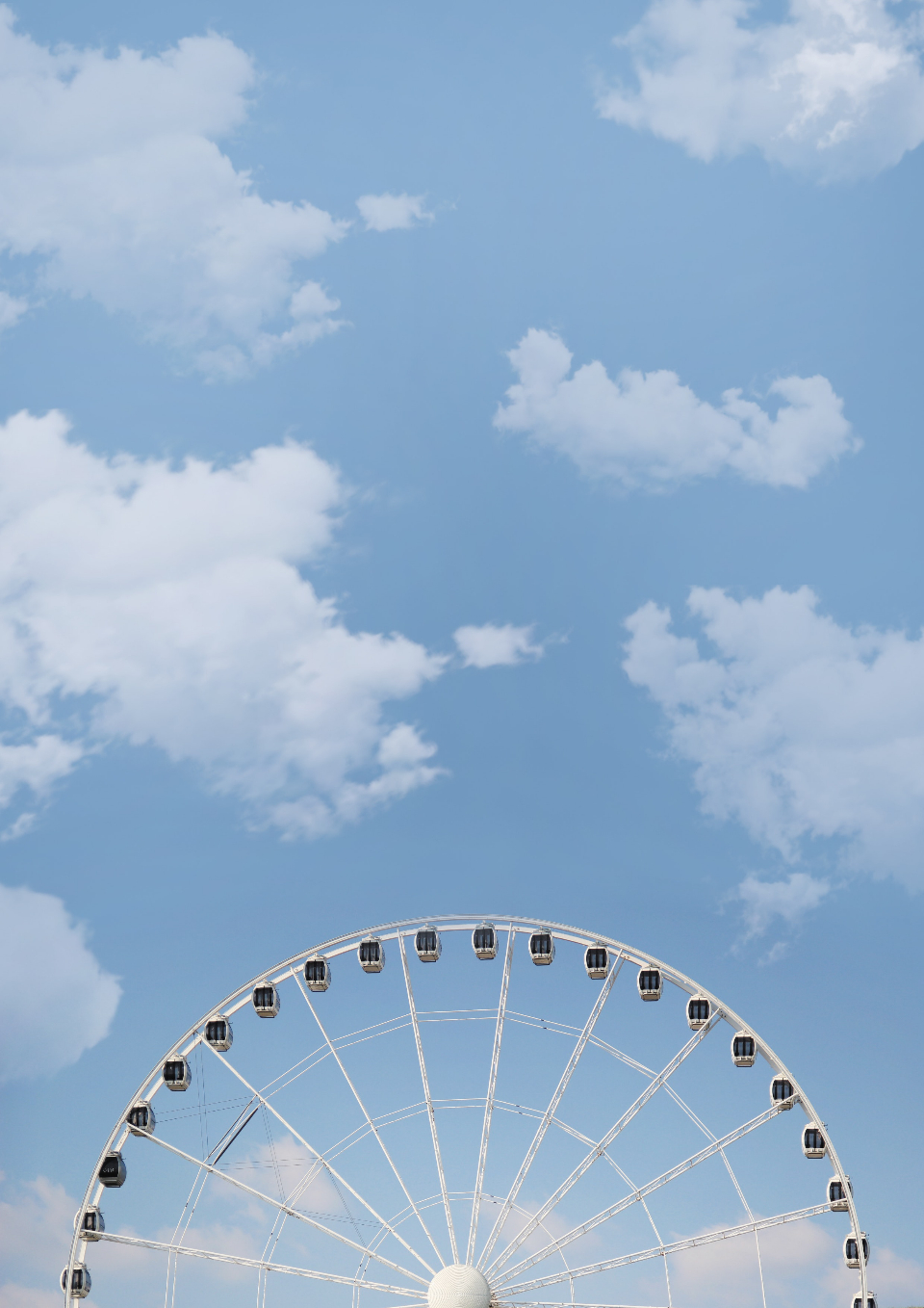 big wheel blue sky clouds fair festival summer spring