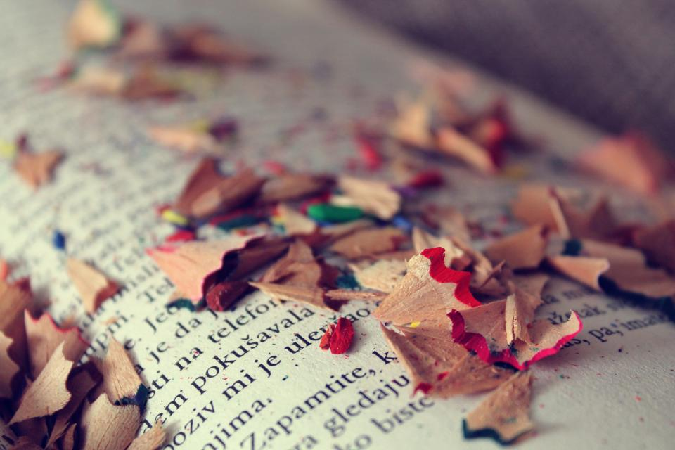 books reading colors art vintage pencils shavings colours