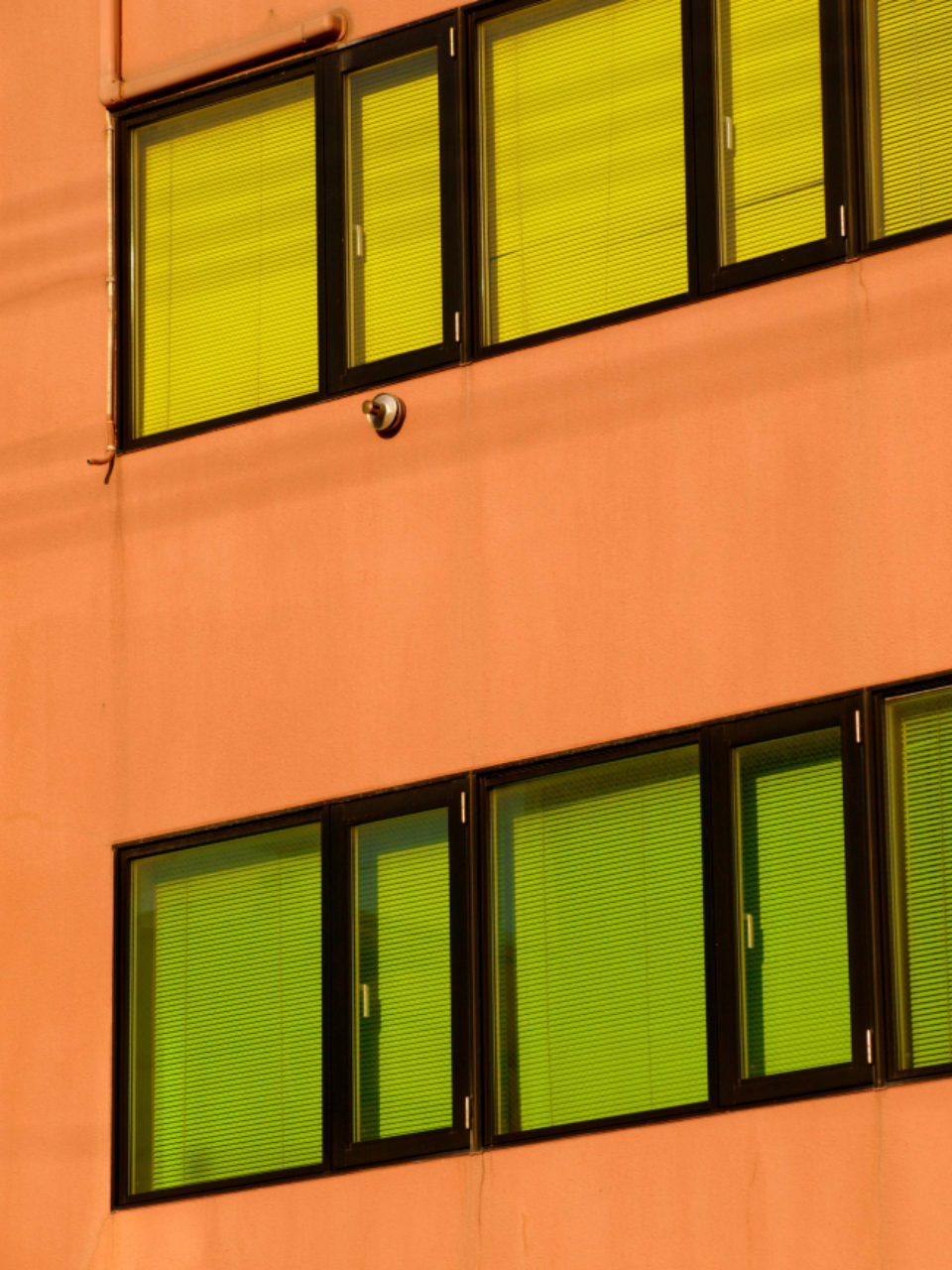colorful exterior wall windows building orange yellow green architecture house home color facade apartment