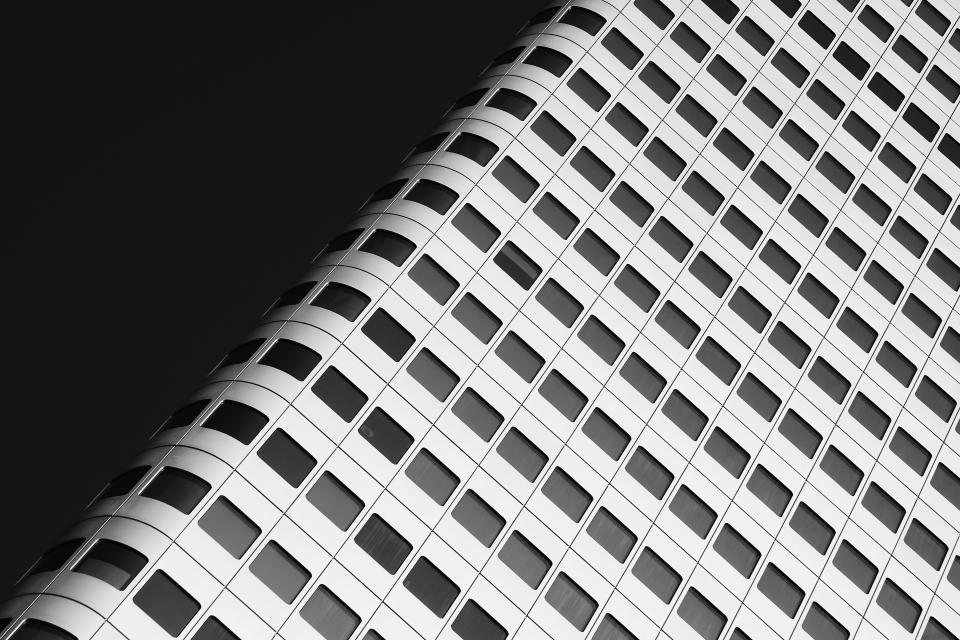 architecture building infrastructure design black and white