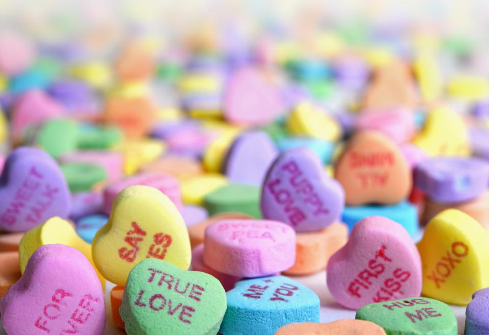 colorful heart candy quotes sweets blur