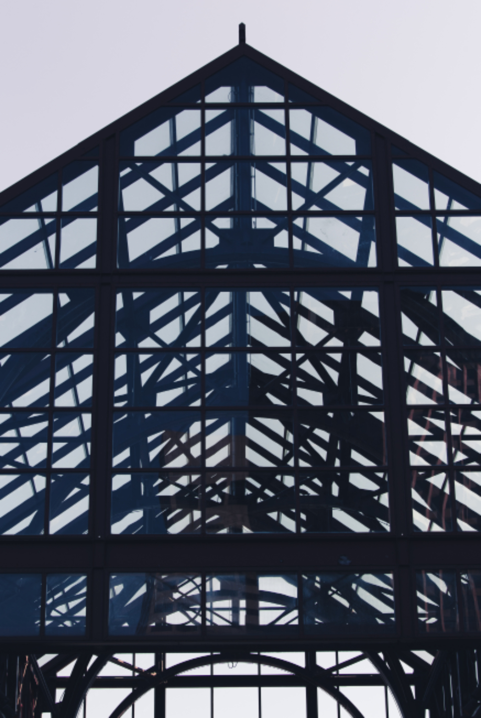 architecture building infrastructure structure windows roof beams metal glass silhouette peak modern design city pattern engineering