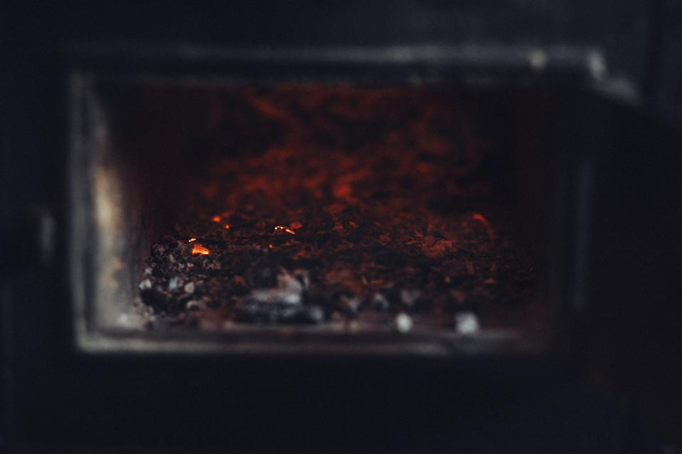 old stove hot fire flame ashes