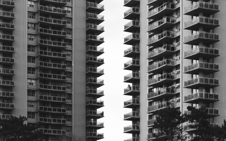 apartment abstract balcony terraces monochromatic view apartments living city tall buildings urban architecture modern structure windows monotone