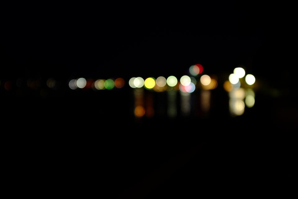 dark black lights bokeh