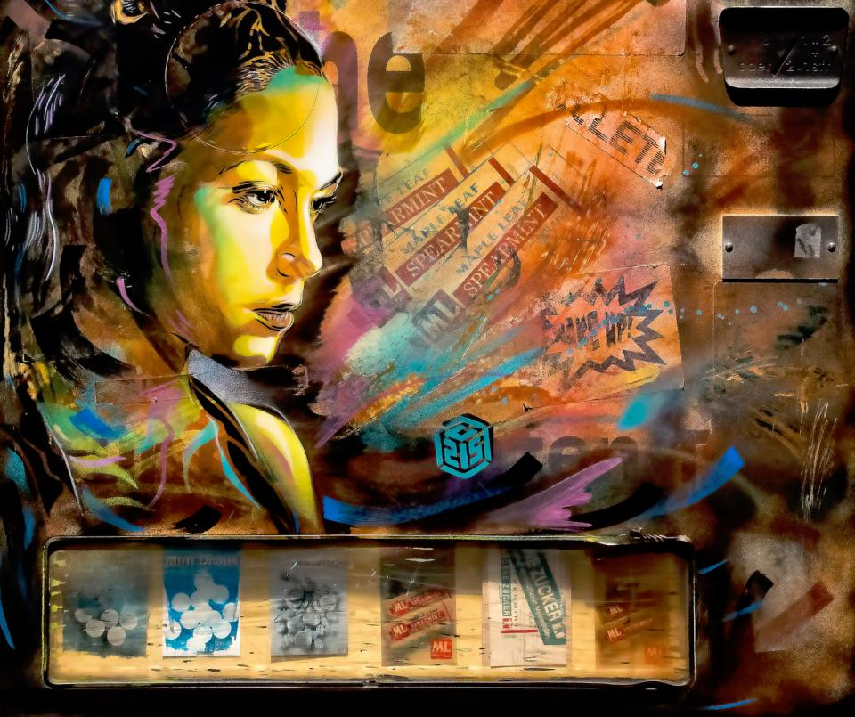 wall art graffiti painting colors