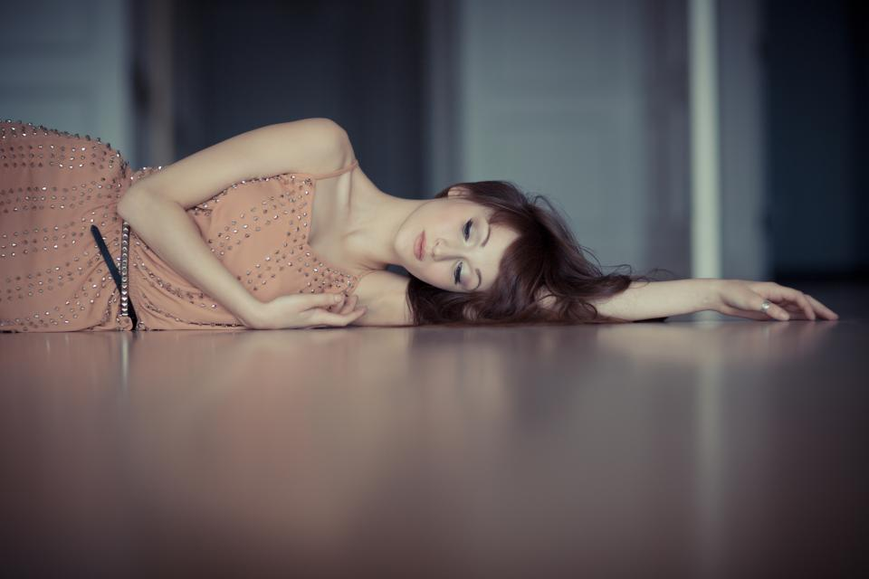 people woman beauty floor model photoshoot fashion project sad tired