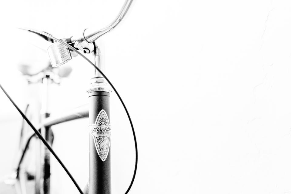 black and white bike bicycle