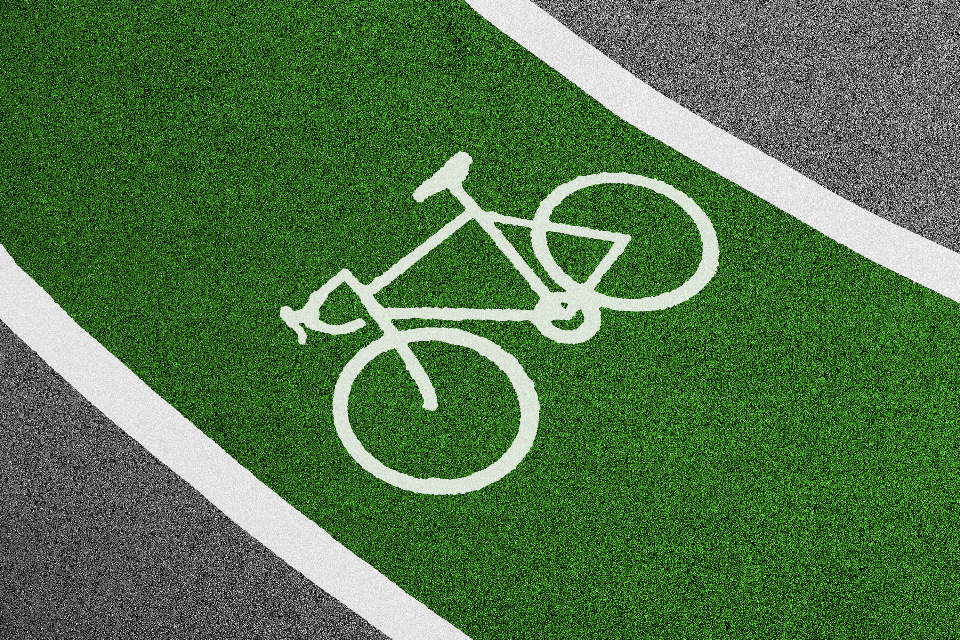 cycle lane green pictogram icon bike sport minimal racing road