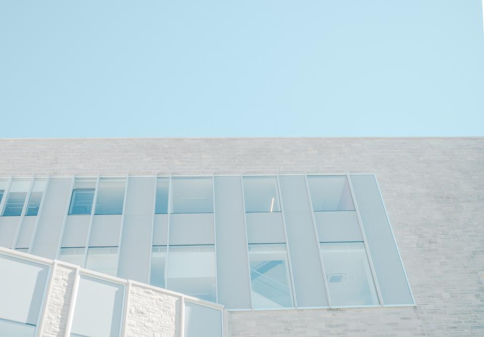 architecture white building infrastructure blue sky
