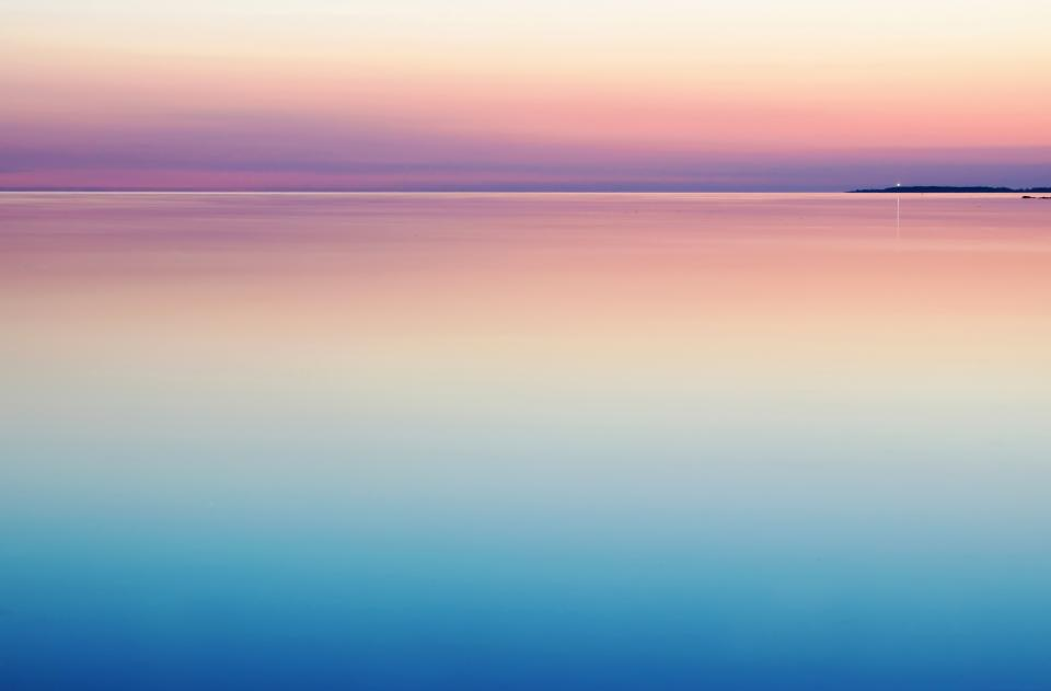 ocean sea water horizon sunset landscape nature sky