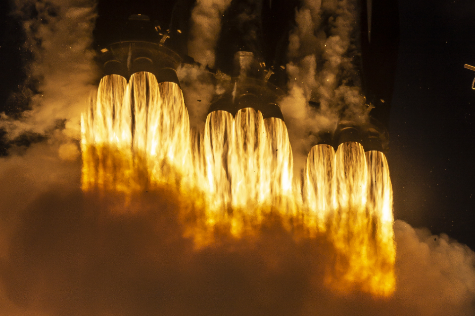 space rocket launch liftoff fire thrust power speed travel movement ignition spacex hot burning flames yellow technology exploration smoke heat