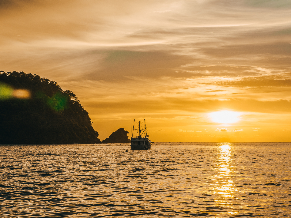 travel adventure ship sunset sea islands