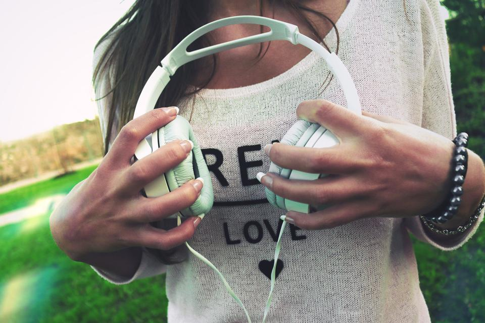 headphones music hands girl woman people lifestyle love