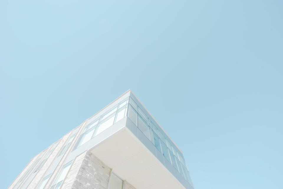 architecture building infrastructure blue sky house design