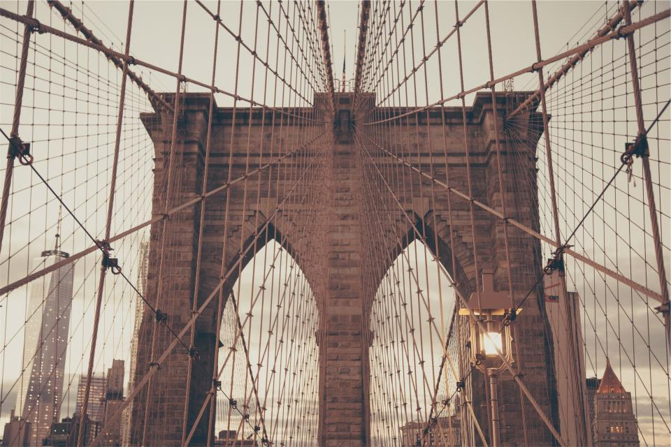 Brooklyn bridge architecture New York city urban