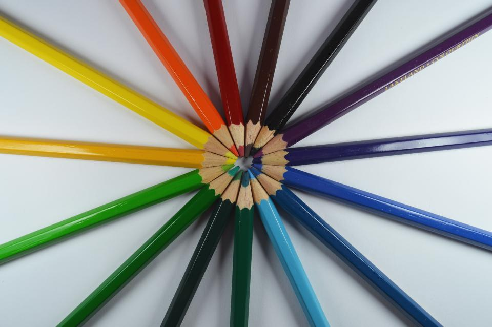 pencil color sharpener art drawing design collection circle round