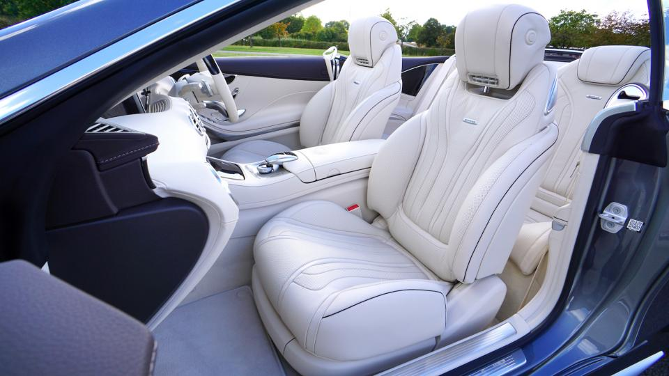 car vehicle luxury interior white seats