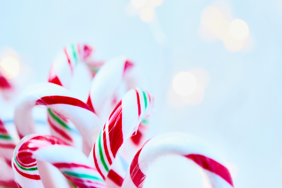candy cane background sweets christmas peppermint food holidays close up treat copyspace canes dessert festive