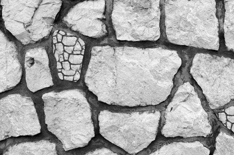 rock stone floor black and white monochrome crack