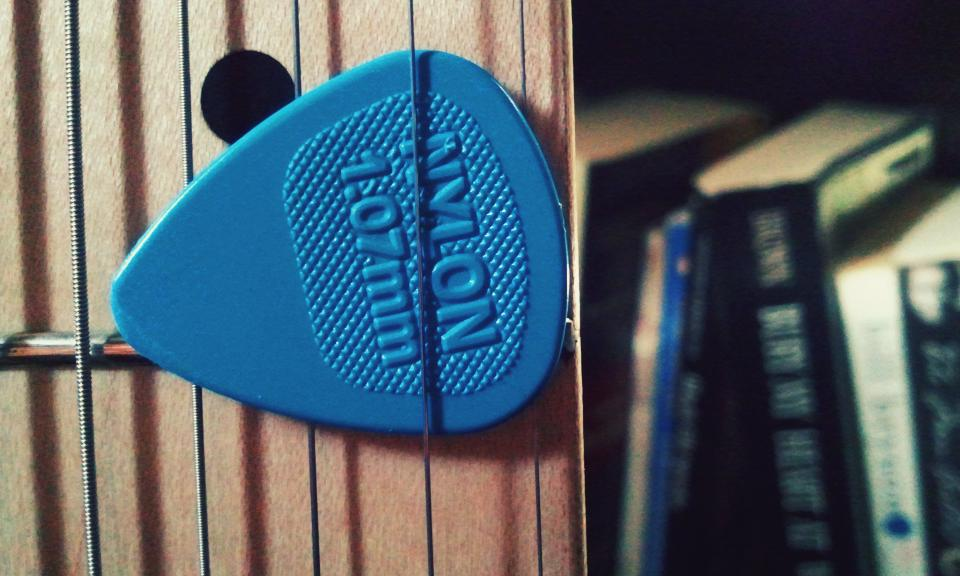 guitar strings pick music instrument