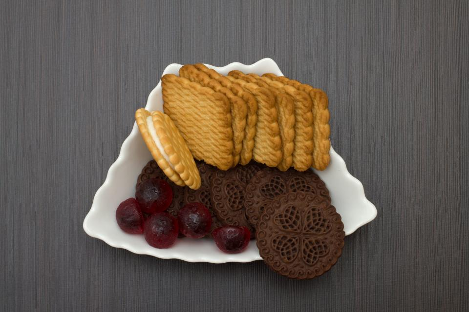 food biscuits bake bread spread vanilla plate table delicious