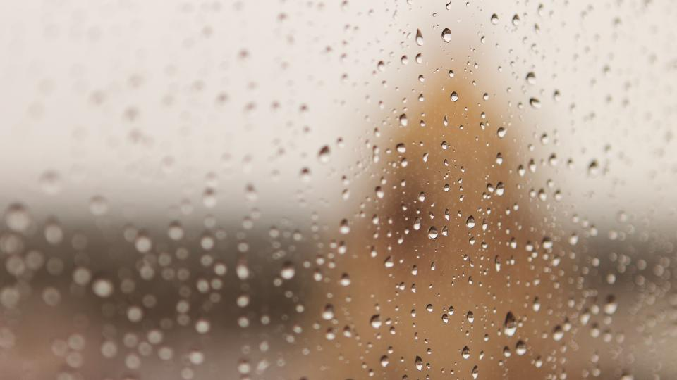 rain drops wet window