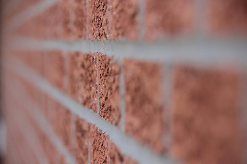 wall bricks lines focus buildings