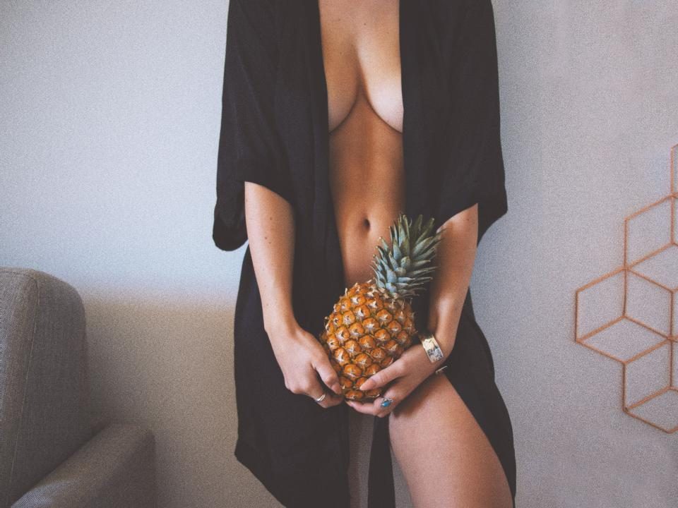 people woman girl sexy model pineapple fruit food beauty