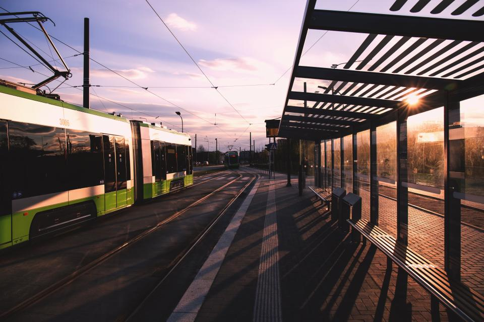 train station railway road street sunny day sunrise sunshine sky cloud transportation travel