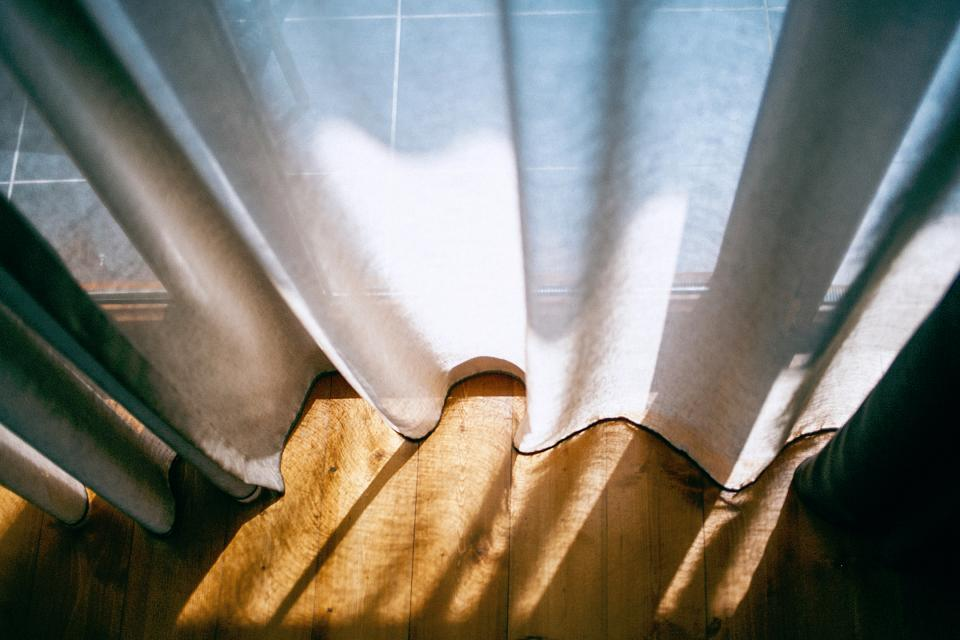 interior house home curtain sunlight shadow