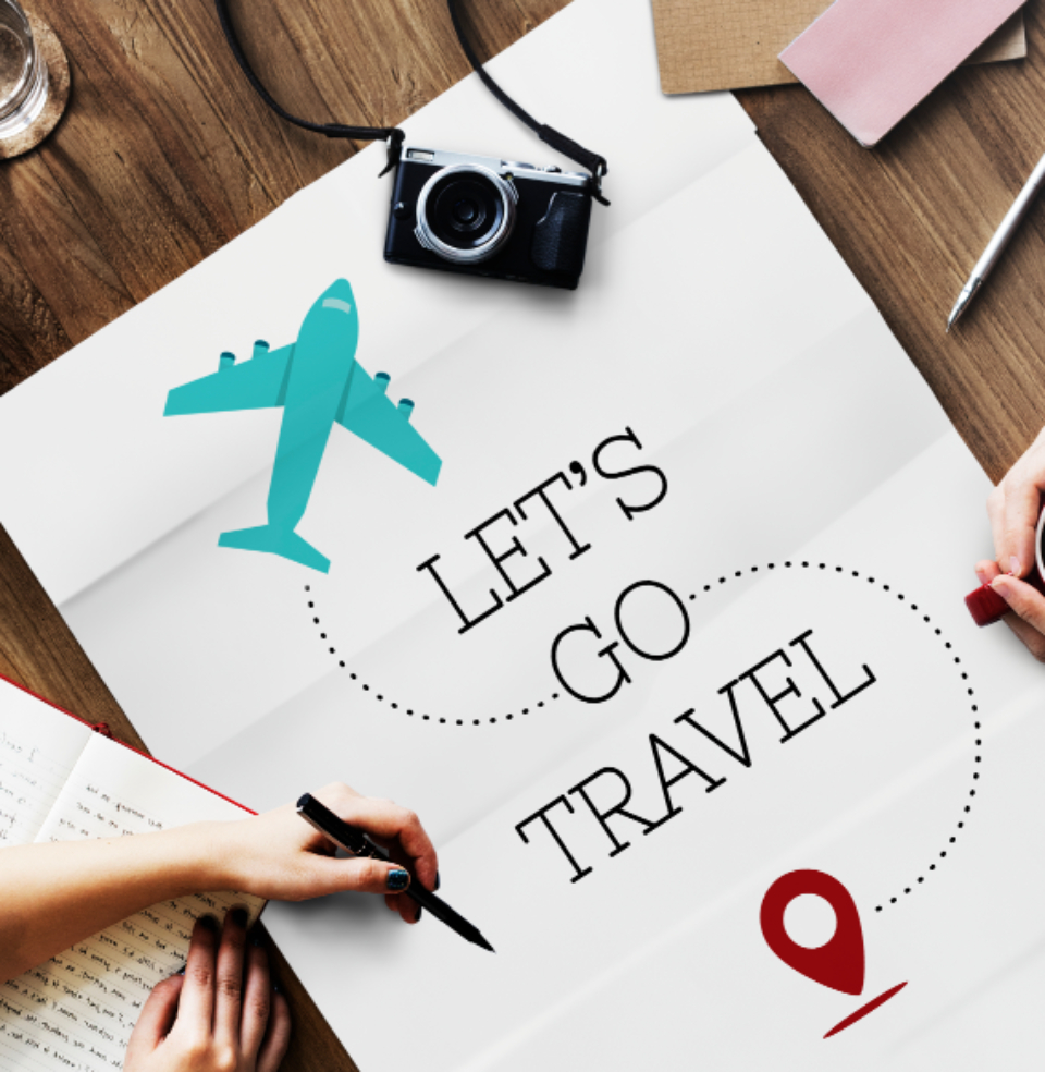 direction journey laptop lying map place top view travel trip wooden table planning plan traveling