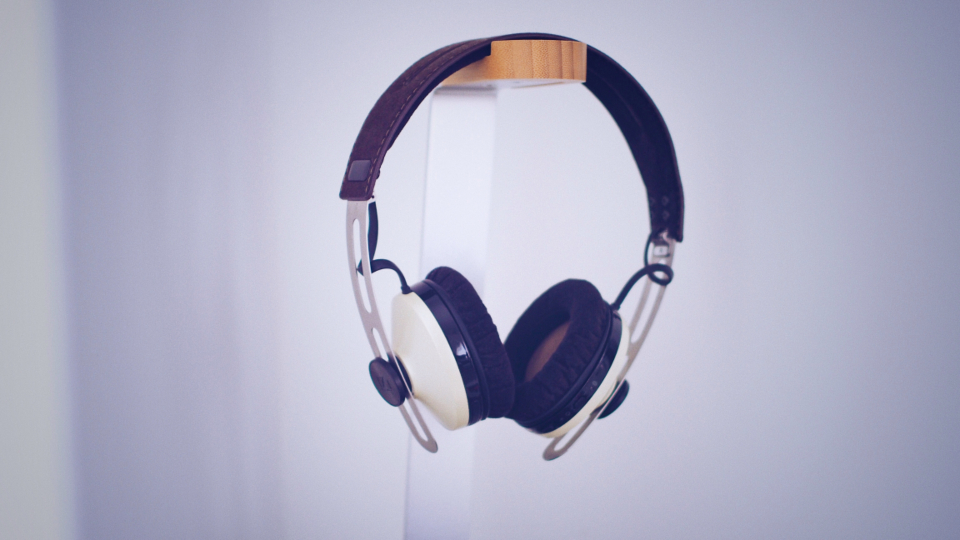 hanging white headphones music sound minimal