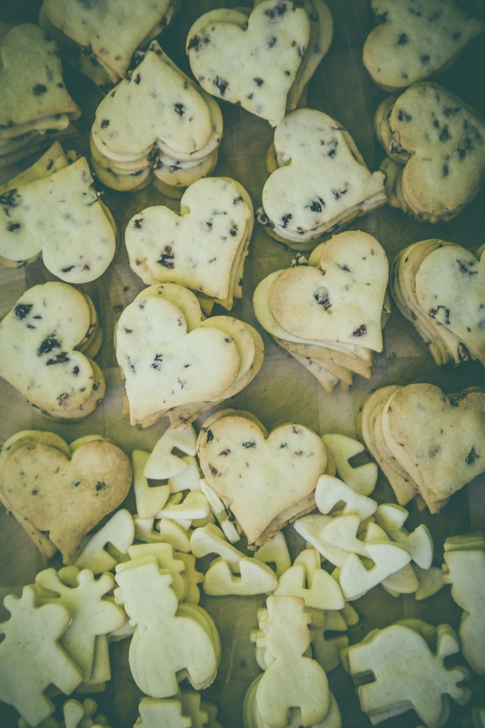 heart shape cookie pastry food sweets snack