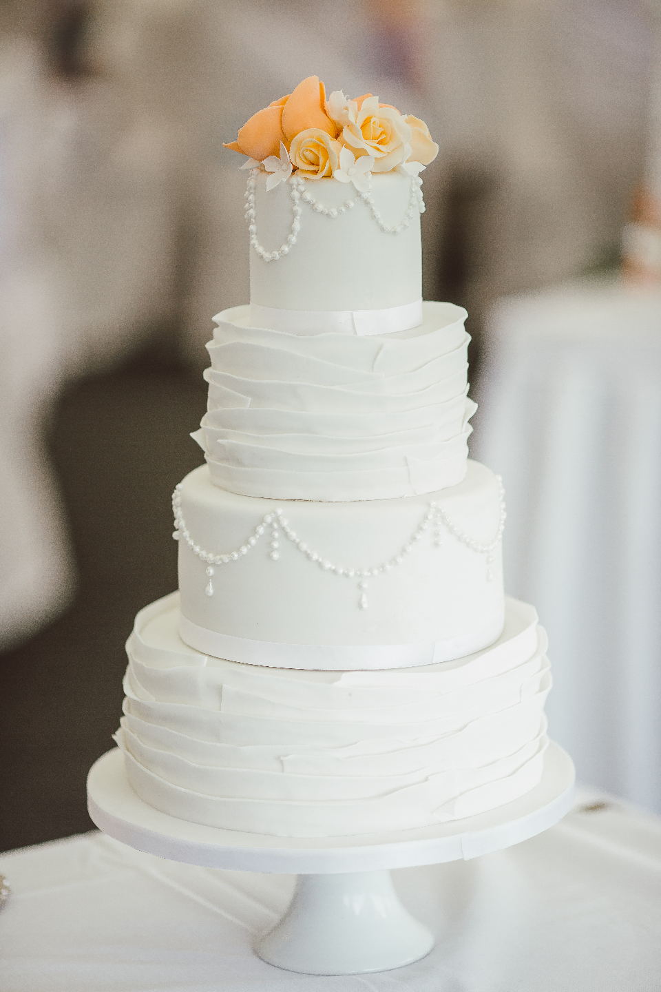 cake wedding white tiered love romantic