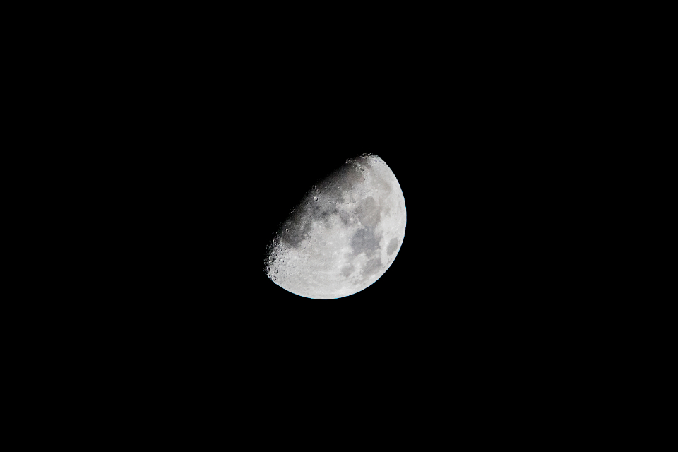 moon surface craters space night sky dark astronomy gray nature shadow lunar planet science astrophotography