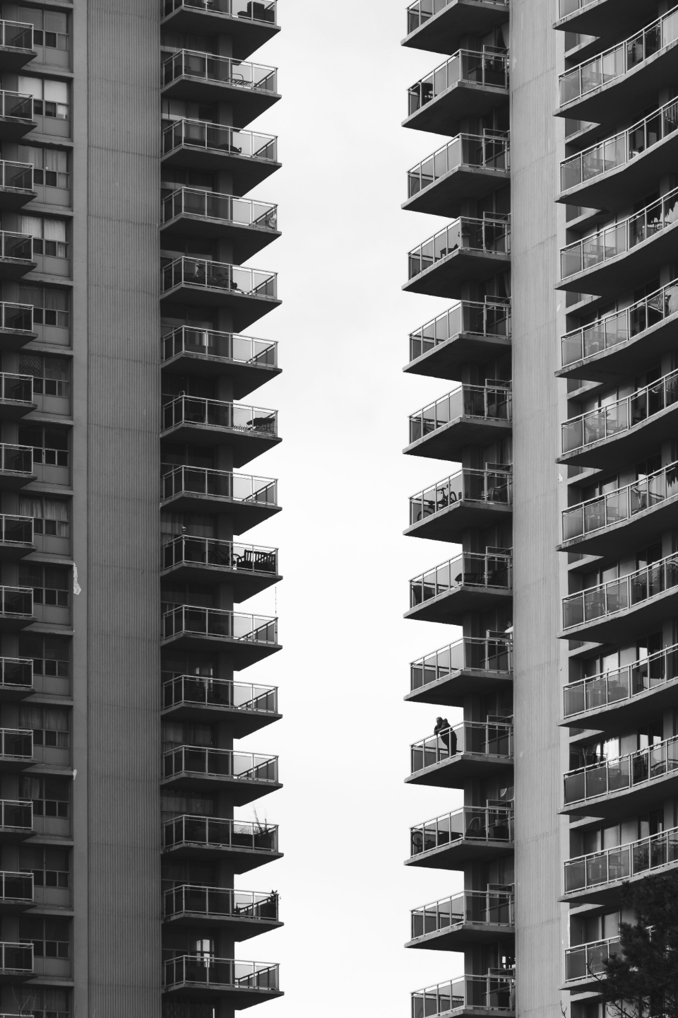 apartment abstract balcony terraces monochromatic view apartments living city tall buildings urban architecture modern structure windows