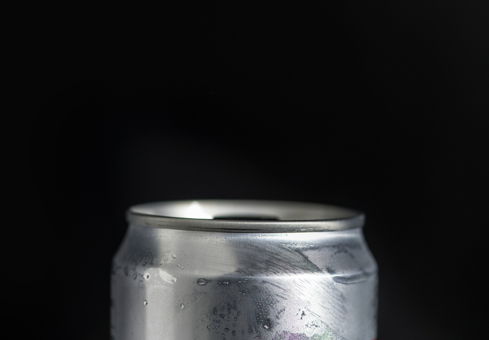 aluminum beverage background can chilled close up cold drink drink fluid liquid macro copy space silver metal soda can thirsty object mockup packaging