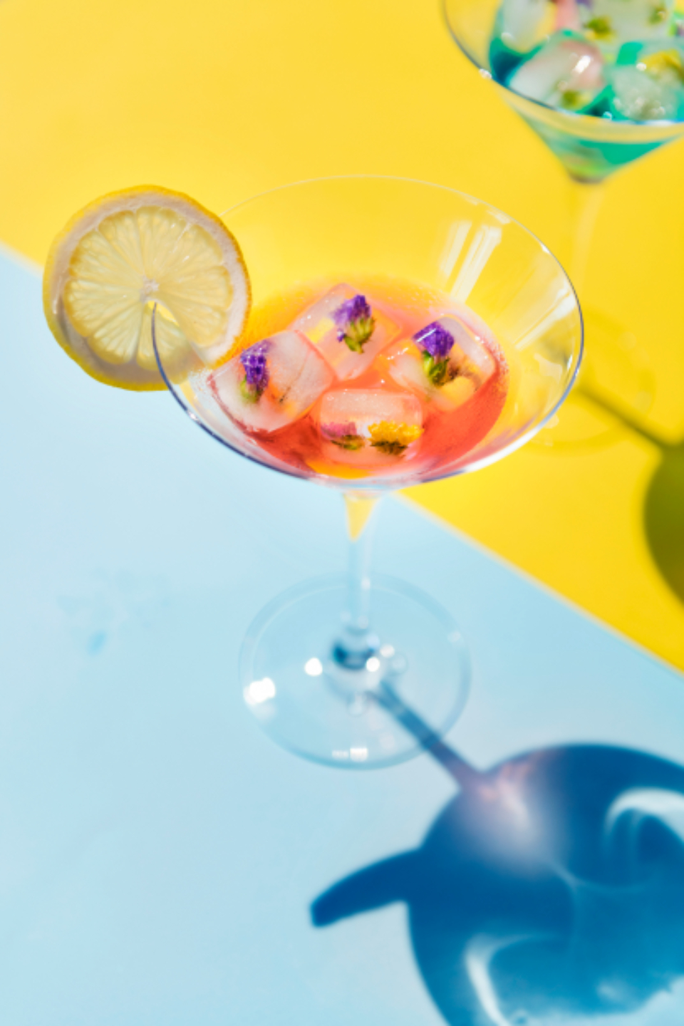 alcohol beverages celebration closeup cocktail colorful cube decoration delicious drink drinks floral fresh freshness funky getaway glass holiday ice isolated juice lemon light liquor margarita martini