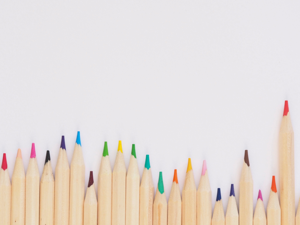 colored pencils minimal white background wallpaper hd high-res green red yellow blue purple art design resources