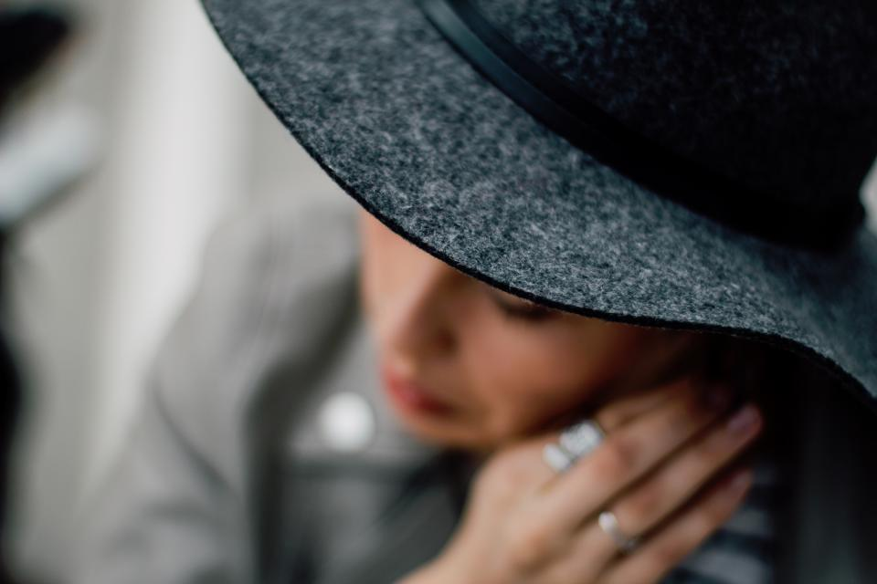 people girl women lady hat rings gray accessories clothing