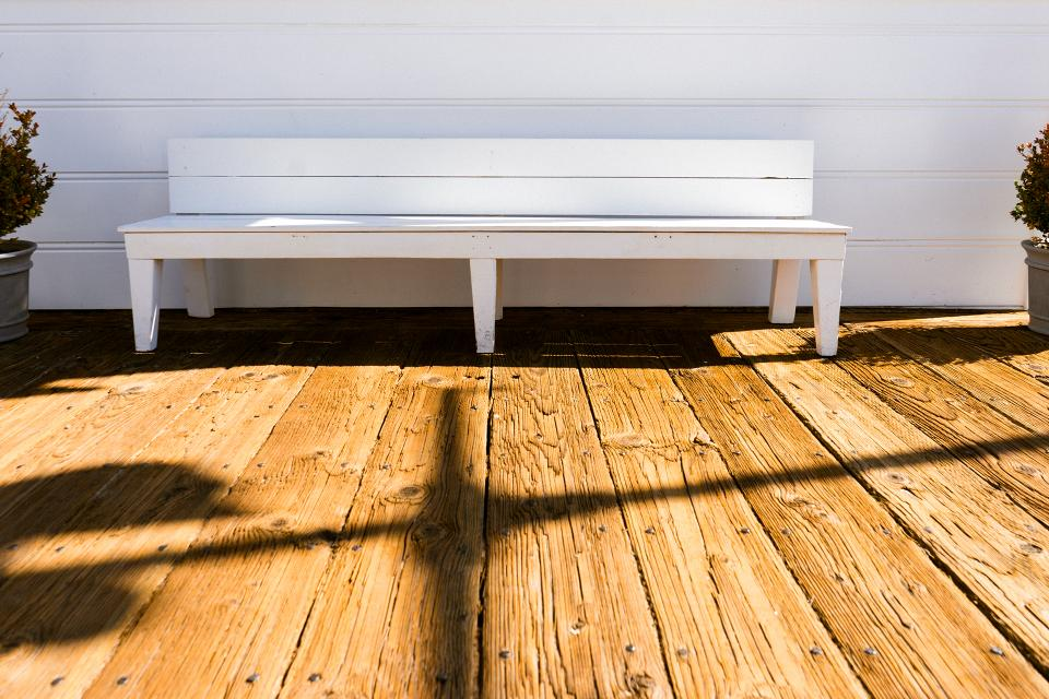 wood bench deck