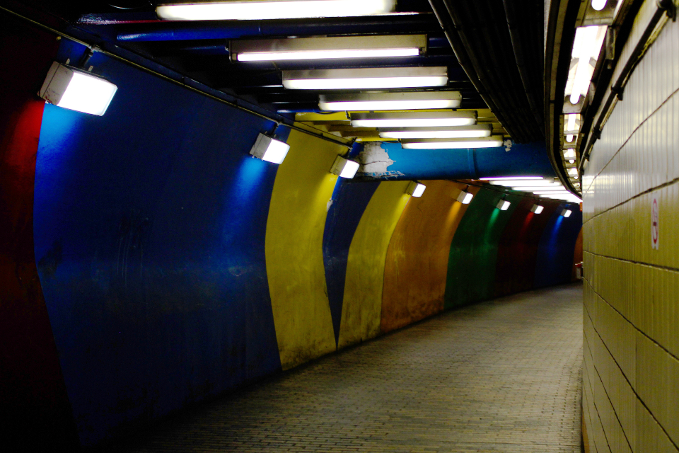 metro subway tunnel underground transport colorful city line station train transportation urban travel path