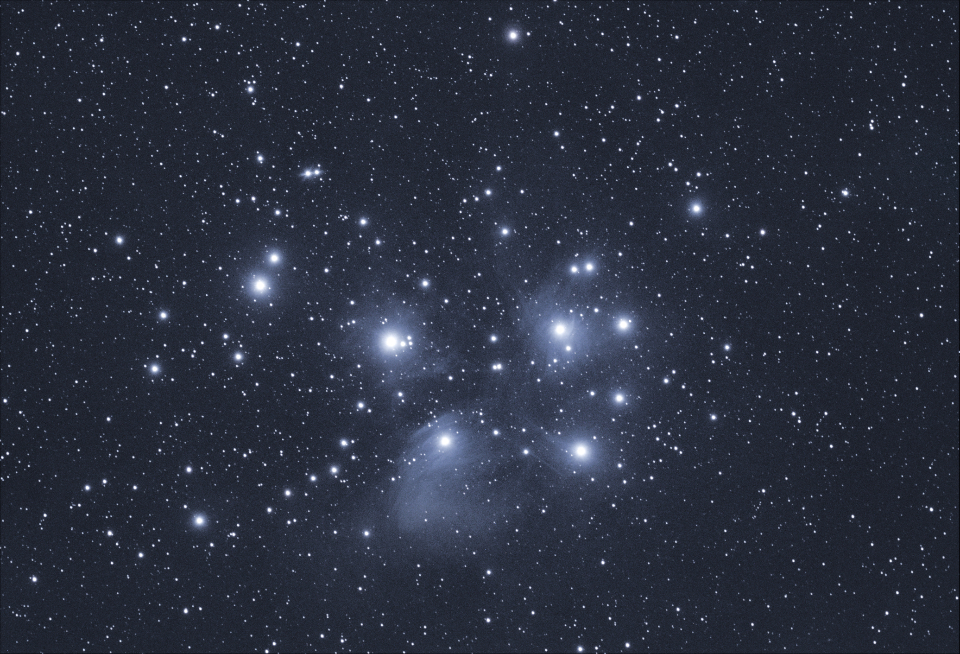 pleiades night stars starry sky astronomy space galaxy constellations dark deep space cluster universe interstellar cosmos telescope nature