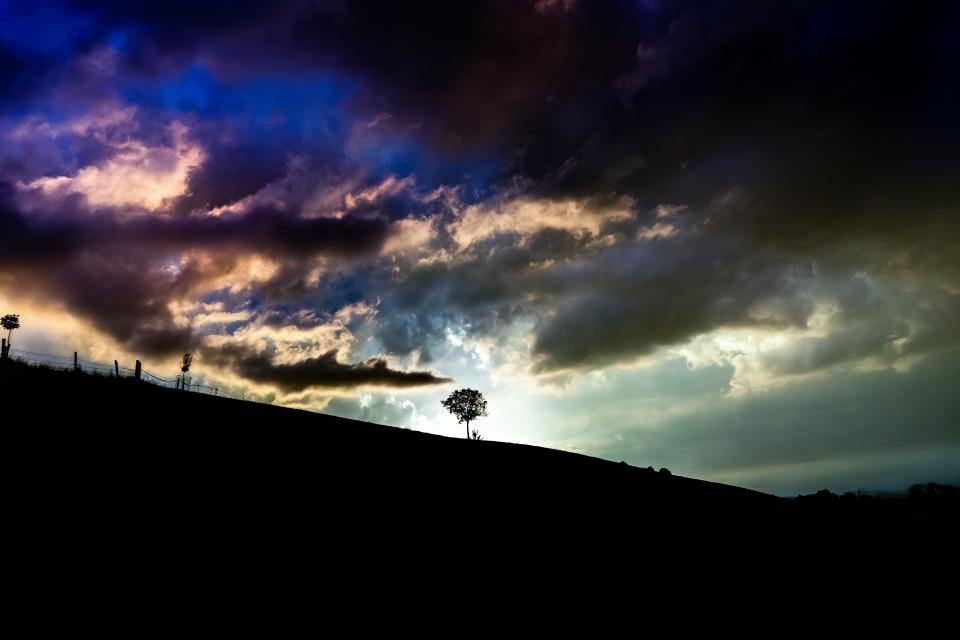 nature landscape sky clouds hill mountain travel trip adventure alone