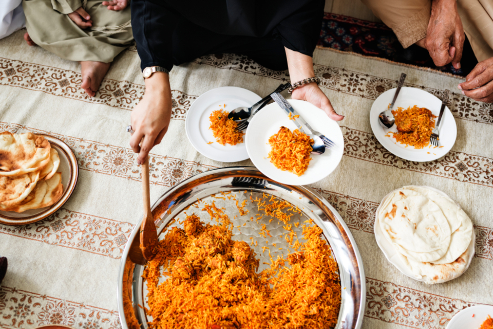 arabic biryani celebrating chicken biryani cookery cuisine culinary cultural culture dining dinner eat eating family feast feasting food fried rice halal halal food home homemade islam islamic lunch meal menu muslim
