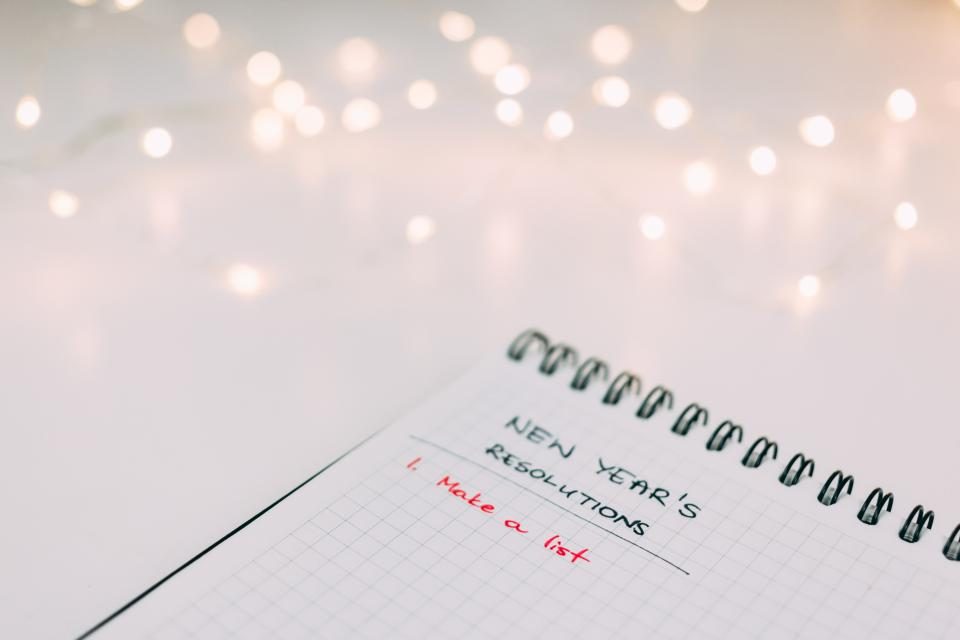 notebook paper write reminders blur bokeh