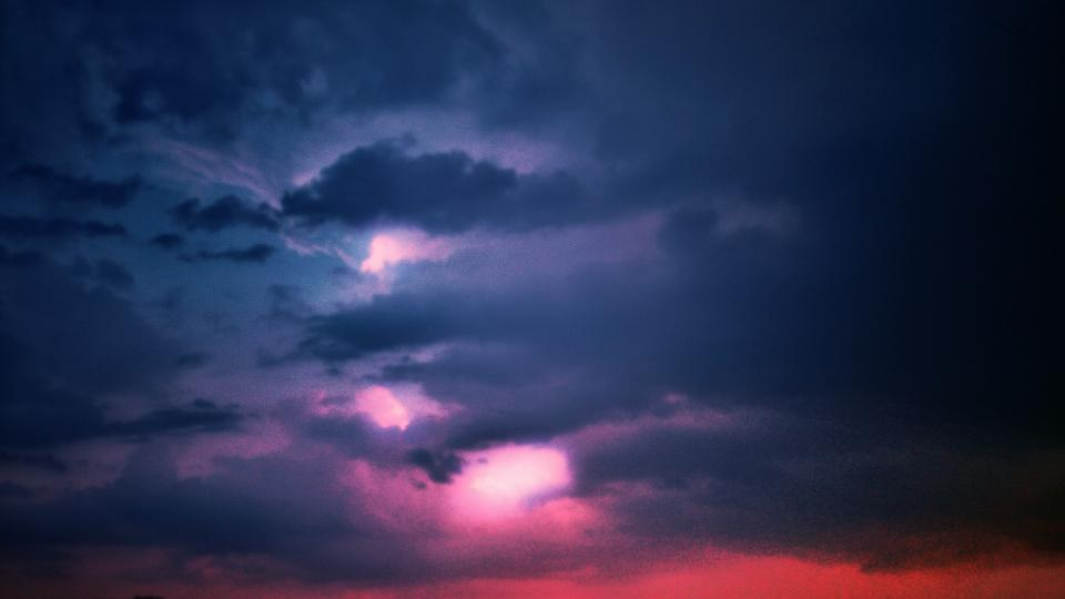 clouds cloudy dark darkness horizon sky purple dusk
